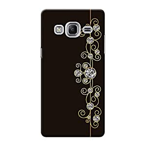 INKIF Abstract Painting Designer Case Printed Mobile Back Cover for Samsung Z3 (Brown)
