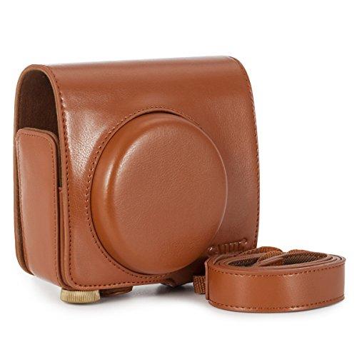 CAIUL Umfassenden Schutz Leica Sofort Sofortbildkamera Tasche mit Weichem PU Leder Material (Braun)