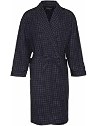 12077ae97f Mens Champion Dressing Gown Checkered Bath Robe Poly Cotton (L XL