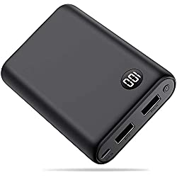 Yacikos Batterie Externe 13800mAh, Mini Design Power Bank Haute Capacité avec 2 USB Ports de Haute Vitesse et Ecran LCD Batterie de Secours Chargeur Portable Universel pour iphone Huawei Samsung etc