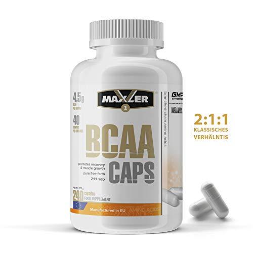 BCAA Caps | Muskelaufbau und Wiederherstellung | 240 Kapseln - Bcaa 240 Caps