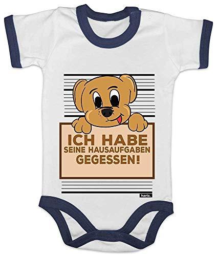 Stolz Ringer (HARIZ Baby Body Ringer Hund Hausaufgaben Gefressen Süß Tiere Dschungel Plus Geschenkkarte Weiß/Navy Blau 12-18 Monate)