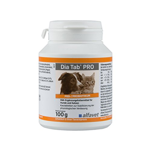 Alfavet Dia Tab Pre / Probiotic, 1er Pack (1 x 100 g)