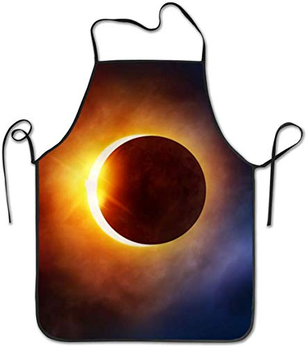 shanghaiqianyushi Funny Cooking Apron BBQ Grill Kitchen Chef Barbecue Gifts One Size Fits Most Galaxy Space Solar Eclipse 2017 Florida