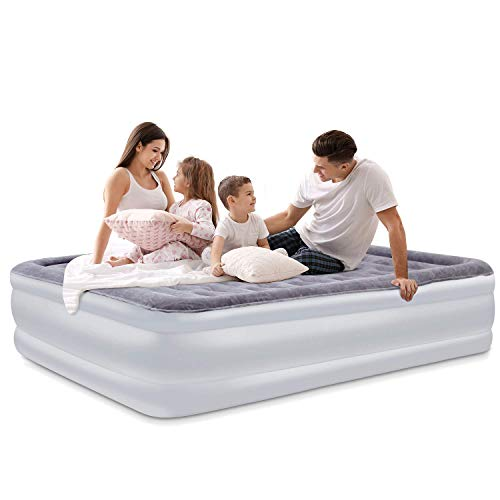 Luftbett Doppel Queen Size Aufblasbare Luftmatratze Airbed Gästebett mit eingebauter elektrischer Pumpe - 203 x 153 x 45cm
