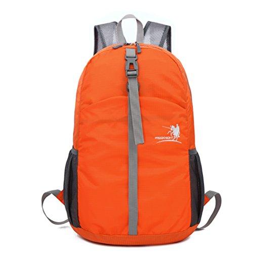 Outdoor Rucksack Wasserdicht Faltbar Ultraleichte 30L Sport Reisen Wandern Trekking Radfahren Schule Tasche Orange