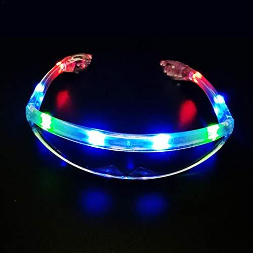 mooderff EL Draht Neon Wire Leuchtbrille LED Partybrille Sonnenbrille Für Weihnachtsdekoration, Neujahr Club, Bar Disko, Kostüm Konzert Rave
