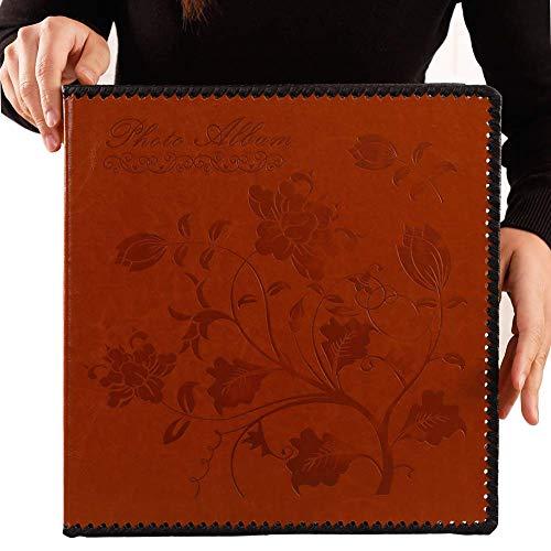 end, extra große magnetische selbstklebende Seite Bildalbum mit Vintage-inspiriertem Leder-Cover, handgefertigte DIY-Alben für 3 x 5, 4 x 6, 5 x 7, 6 x 8, 8 x 10 Fotos, Sammelalbum ()