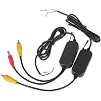 BW Ricevitore e trasmettitore RCA wireless da 2,4GHZ, per auto, retromarcia e monitor