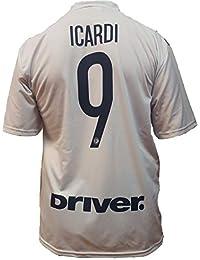 Tercera Camiseta Jersey Futbol F.C. Inter Mauro Icardi Replica Oficial  Autorizado 2018-2019 Niños ( 03d53fdb53e13