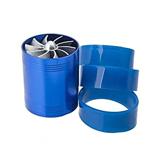 URXTRAL Doppelbett Supercharger Turbine Turbo Fan, Lufteinlass Gas Fuel Saver Fan, Universal Fuel Gas Saver für Auto F1-Z