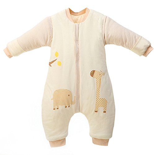 Baby sacco a pelo gambe separate sacco a pelo ispessito sacco a pelo bambini anti kick quilt 3.5 tog xxl