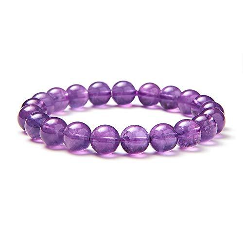 Sunnyclue naturale vera ametista pietre preziose braccialetto elastico 8 mm rotondo perline circa 7