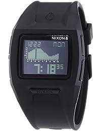 Nixon Lodown II Black - Reloj de cuarzo para hombre, correa de plástico color negro