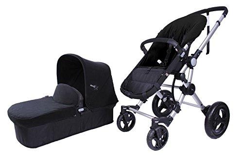 Baby Ace 3011700100017 - Pack con cochecito para bebé Baby Ace 042, base negro + set de invierno, color negro