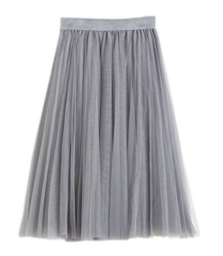 Honeystore Damen's Unterrock 50er Retro Tüllrock Tutu Petticoat Tanzkleid Grau One (Flyer Halloween Party Kostüm)