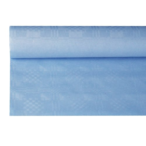 tischtuch mit Damastprägung 8 m x 1,2 m, hellblau ()