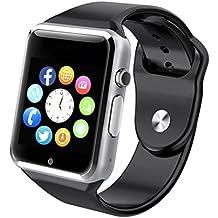 FATMOON GSM 2 G reloj inteligente teléfono, inalámbrico desbloqueado reloj teléfono celular para Android iPhone, Samsung Galaxy Note Serie, nexcus, HTC etc.