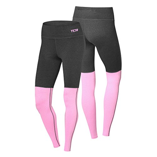TCA Nova, leggins da donna per allenamento, running. Asphalt/Soft Pink