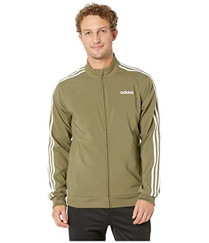 adidas Herren Essentials 3-Stripes Woven Track Jacket Laufjacke Raw Khaki/White XX-Large Woven Warm Up Jacket