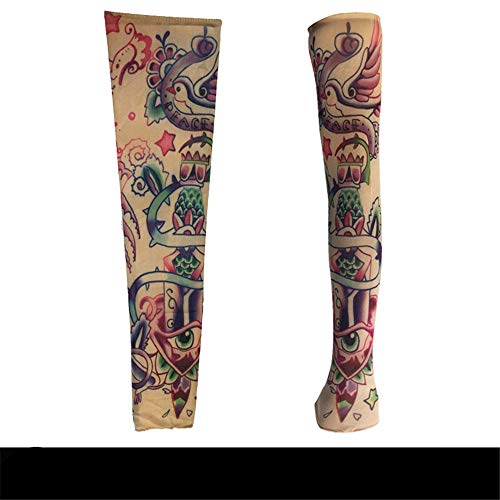 JinRui-Sport Tattoo Sleeve Flower Arm Tattoo Hülle Tattoo Hülle, M, TS81 - Dragon Dance 2er Pack (Dragon Dance Kostüm)