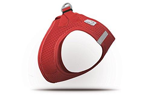 CURLI Brustgeschirr Plush Vest AIR-MESH red für Hunde XS (31 - 34 cm)