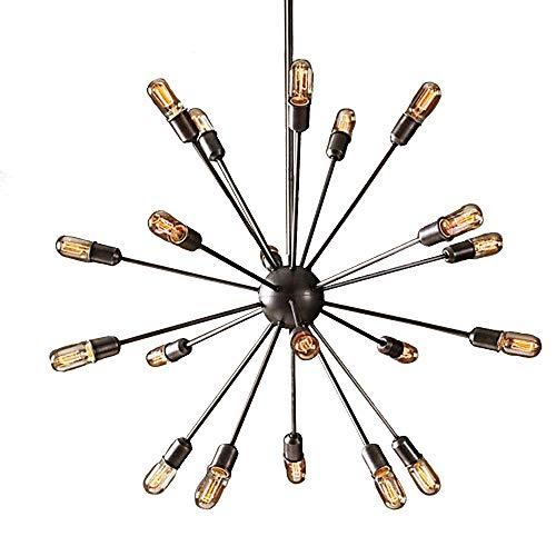 NIUYAO Lampe Suspension Lustre avec 20 Lumières Grand Rétro Industrielle Eclairage Décorative Magnifique