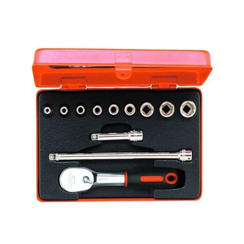 Bahco 6712R Steckschlüssel-Satz 1/4″ mit Umschaltknarre Nr.6950 12-teilig