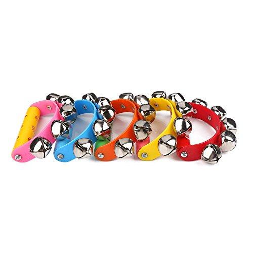 Preisvergleich Produktbild Tourwin Alloy 5 Jingle Bells Set für Baby Musikinstrument Spielzeug Pädagogische Spielzeug (Zufällige Farbe)