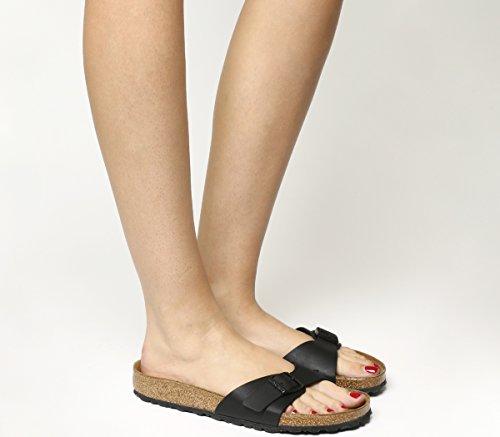 Birkenstock Madrid Black Womens Leather Sandals Shoes-4