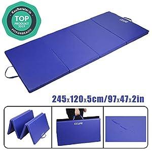CCLIFE 245x120x5cm Blau Klappbare Weichbodenmatte Turnmatte Fitnessmatte...