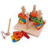 #4: IndiPlay High quality 4 set of columns wooden toys
