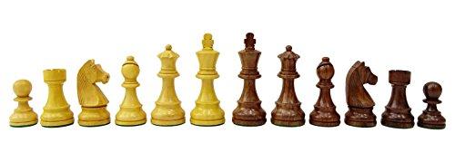 Chessmate Handgearbeitete Staunton Schwere Goldene Boxwood 32 Schachfiguren Stücke Schachspiel Königshöhe 93 Mm Geschenk Für Vater