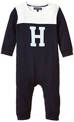 L/s Spieler (Tommy Hilfiger Baby-Jungen ICON Knitted Coverall L/S Spieler, Blau (Black Iris 002), 74)