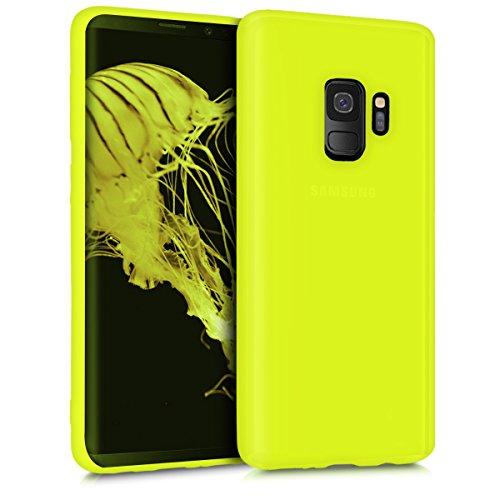 kwmobile Samsung Galaxy S9 Cover - Custodia per Samsung Galaxy S9 in Silicone TPU - Backcover Protezione Giallo Fluorescente