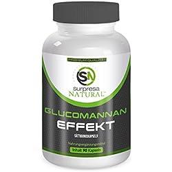 GLUCOMANNAN EFFEKT| 90 Hochdosierte Kapseln | Abnehmen | Gewichtsverlust