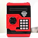 Matefield Huchas Hucha electrónica Electrónica Digital Mini ATM Hucha Dinero Cajas de Ahorro de la Moneda, Juguetes de los Regalos para Niños con Sonido (Azul Blanco)