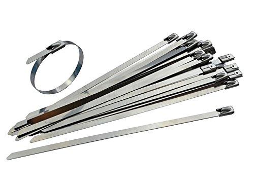 100unidades)–Bridas de acero inoxidable 150mm x 4,6mm–alta calidad 316Marine Grade Metal por...