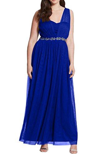 Royaldress Weinrot Herrlich Breiter Traeger Abendkleider Brautmutterkleider Ballkleider Langes A-linie rock Royal Blau