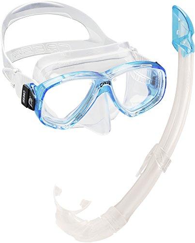 Cressi Perla Mare - Set para Snorkeling Mascara e Tubo, Fabricado en Italia, Color Turquesa