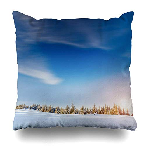 Throw Pillow Covers Bay Antarctica Rocky Shore Icefree Northern Arctic North Nature Antarctic Parks Barents Blocks Home Decor Zippered Pillowcase Square Size 18X18 inches/45cmX45cm Cushion Case