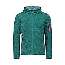 CMP 30H5905 Girls' Knitted Fleece Jacket, girls, Jacket, 30H5905, Lake Ceramic, 140 (EU)