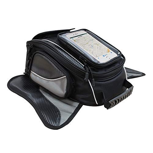 Dracarys Magnetic Motorcycle Tank Bag - Wasserdichte Oxford-Schwarz-Motorrad-Tasche - Reise-Outdoor-Sporttasche Gepäck - Starke magnetische Tasche Universal für die meisten Motorräder