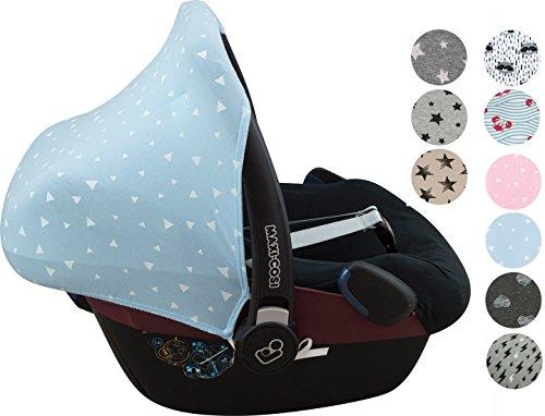 Sonnenverdeck für Maxi-Cosi Pebble y Bébé confort Gruppe 0 Janabebe® Blue Sparkles (Elasthan Sparkle)