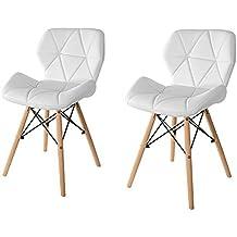 Amazon chaise cuir pieds bois