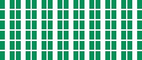 Mini Aufkleber Set - Pack glatt - 20x12mm - selbstklebender Sticker - Nigeria - Flagge / Banner / Standarte fürs Auto, Büro, zu Hause und die Schule - 54 Stück (12-flag Mini)