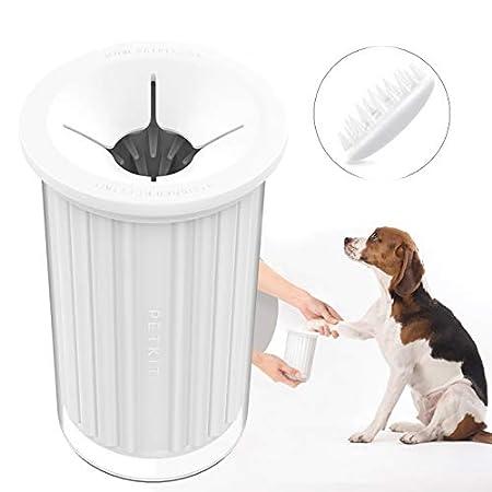 PETKIT Hunde Pfote Reiniger mit Haarbürtse und Massagekamm, Tragbar Hund Pfote Reiniger Hunde-Pfotenreiniger Fußreiniger…