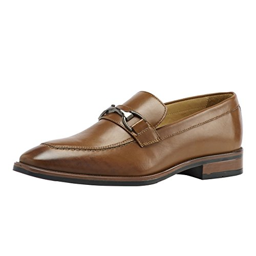 Brent Shoes Men's Tan Amadeus Leather Formals UK 45 / IND 11 (Wide Fit)