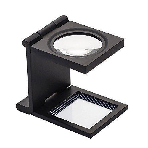 Lupe 10X Tischlupe Faltbar Juwelierlupe tragbar Vergrößerungsglas leicht lesehilfe...