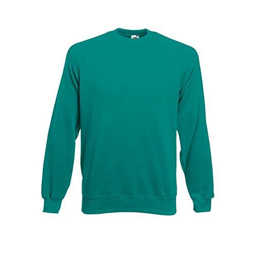 Fruit of the Loom Herren, Sweatshirt, Raglan Sweatshirt SS024M Emerald